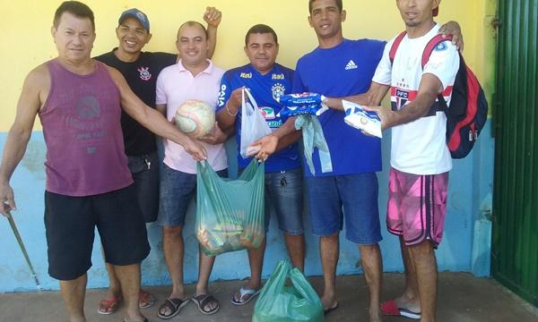 Jogos dos Amigos arrecadam Alimentos e fazem Doação para as Famílias em Agricolândia