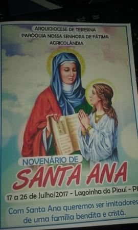 Venha participar do Festejo de Santa Ana em Lagoinha Piauí