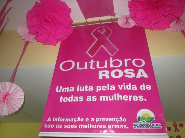 Ação social e caminhada acontecerá  na sexta-feira 27 no último dia de campanha do Outubro Rosa em Agricolândia