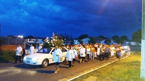 Procissão marca o encerramento dos festejos da Imaculada Conceição em Agricolândia
