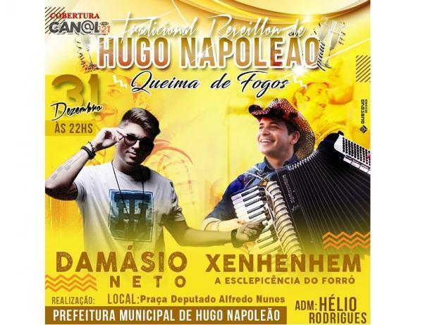 Show da Virada em Hugo Napoleão com Xenhenhem e Damásio Neto