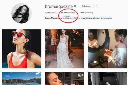 Após reatar com Neymar, Marquezine ganha 400 mil seguidores