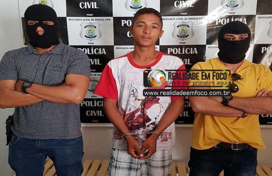 Policia prende acusado de assassinar e enterrar jovem ainda vivo em José de Freitas