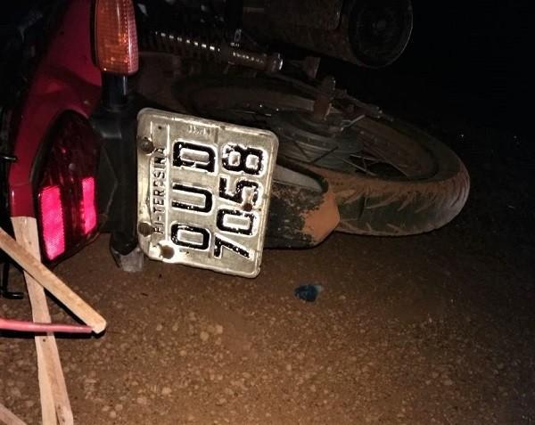 Motociclista morre após colisão com veículo em Regeneração