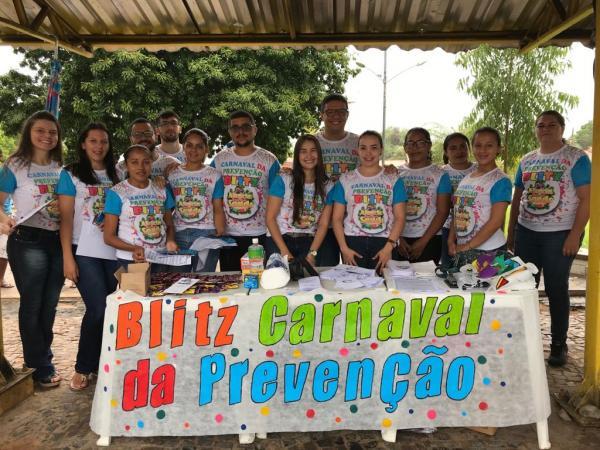 Secretaria de Saúde de Agua Branca realiza Blitz Carnaval da Prevenção