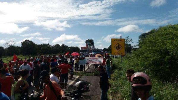 MST protesta contra a Reforma da Previdência em Teresina