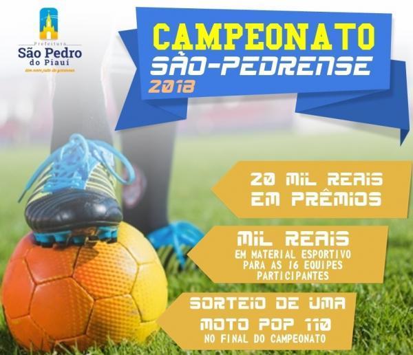 Campeonato de Futebol em São Pedro terá premiação de mais de 20 mil reais