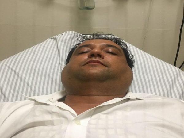 Geraldo Luís adoece, vai parar em hospital e fotos chamam a atenção