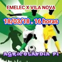 Domingo dia 18 abertura do Campeonato de Futebol de Agricolândia