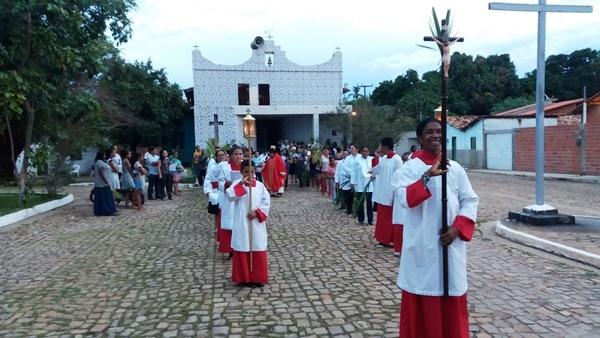 Procissão de Domingo de Ramos marca o inicio da semana santa em Agricolândia