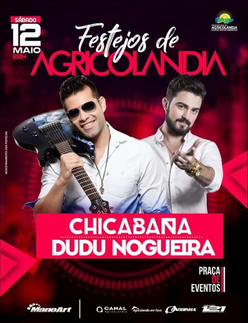 Chicabana é Confirmada para o Festejo de Agricolândia 12 de Maio