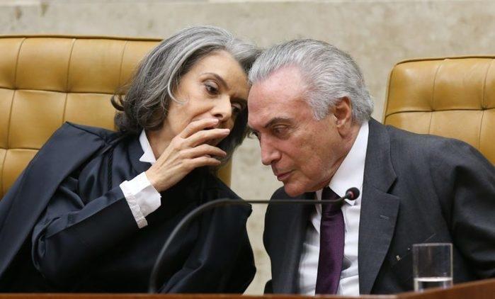 Sem Temer, Maia e Eunício, Cármen Lúcia assume Presidência na sexta