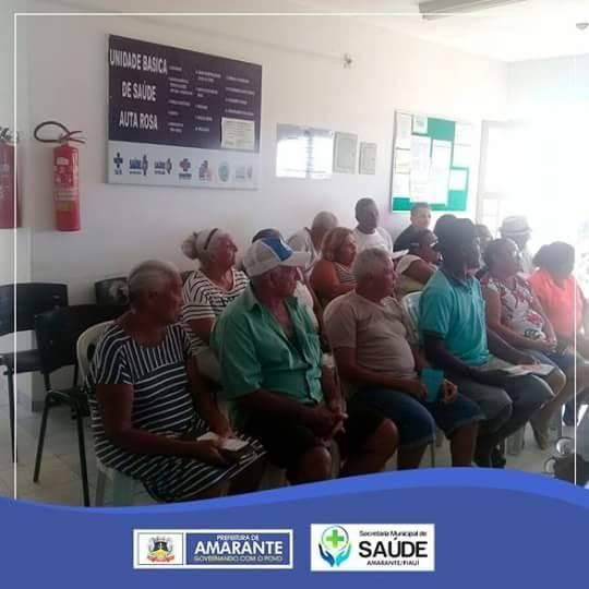 Equipes da saúde realizam palestra educativa sobre orientação aos diabéticos em Amarante