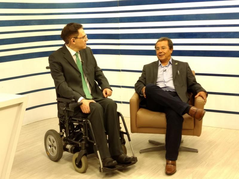 Jonas Moura Concede entrevista no Grupo Meio Norte de Comunicação