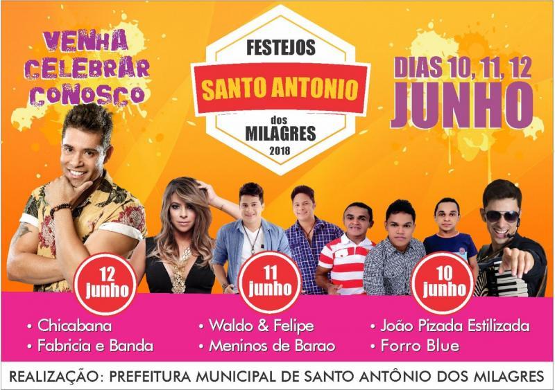 Dia 12 de Junho Chicabana em Santo Antônio dos Milagres