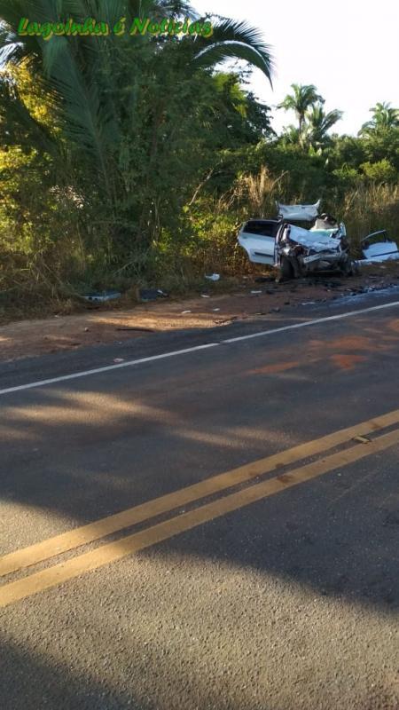 Acidente envolvendo uma Ambulância e UM carro de Passeio deixa duas Pessoas Mortas na BR 316
