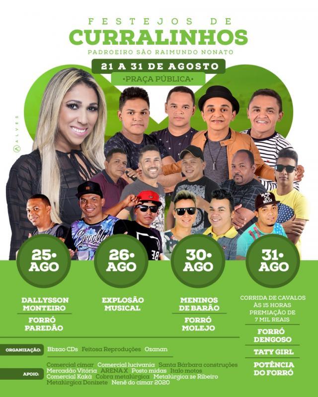Prefeito Alcides Divulga Programação Cultural do Festejo de São Raimundo Nonato em Curralinhos