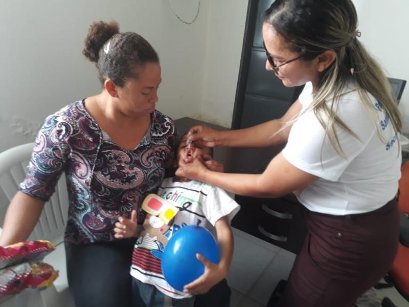 Santo Antônio dos Milagres atinge meta e vacina 100% do público da Campanha contra a Poliomielite e Sarampo