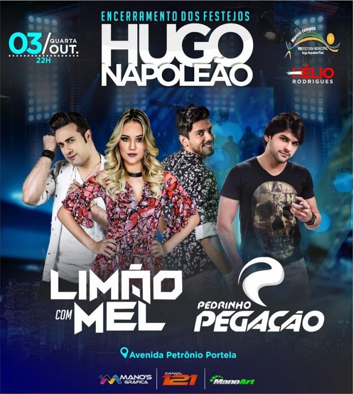 Nesta quarta dia 3 de Outubro tem Limão com Mel em Hugo Napoleão