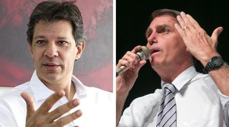 Pesquisa CUT/Vox Populi traz Bolsonaro com 53% e Haddad com 47%