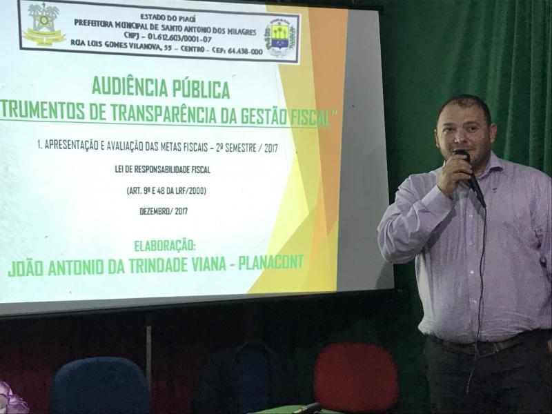 Santo Antônio Dos Milagres Realiza Audiência Pública Referente Ao Segundo Semestre De 2017