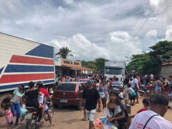 Ação social termina em tumulto na região da Santa Teresa