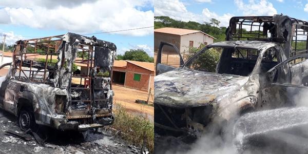 Ambulância fica destruída após pegar fogo na BR-316 no Piauí