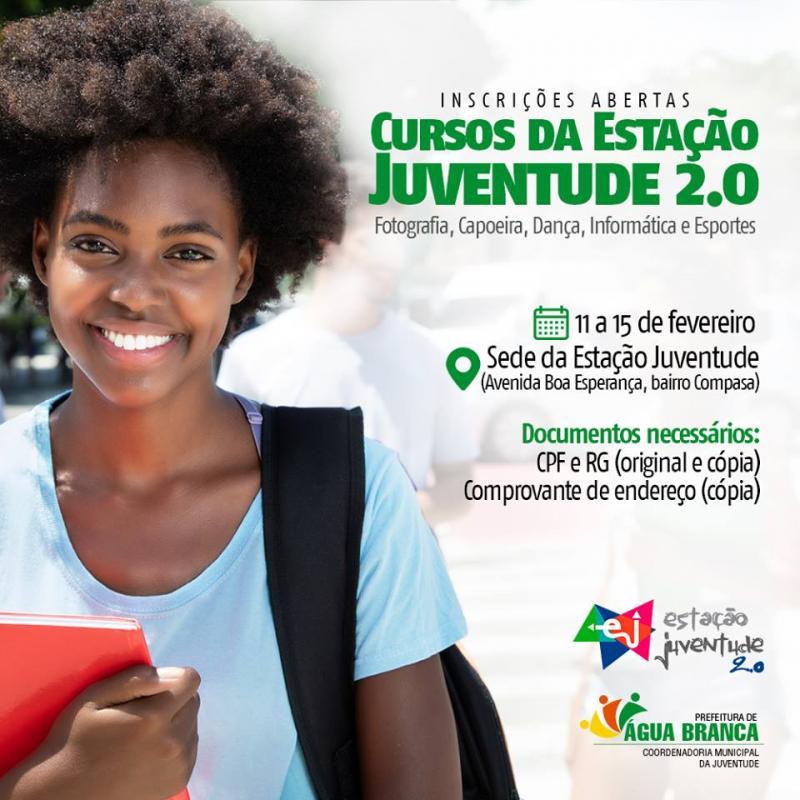 Prefeitura de Água Branca com Inscrições Abertas para Cursos na Estação Juventude