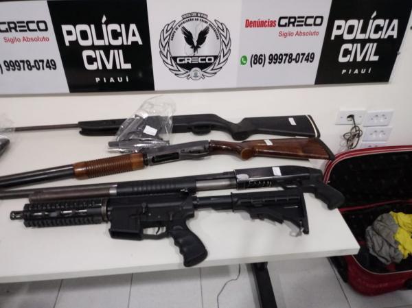 Polícia prende acusados de tentar assaltar banco e metralhar viaturas em Castelo do Piauí