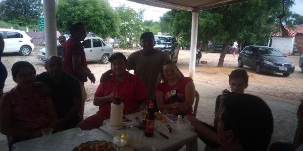 Vice-prefeito de Lagoinha recebe Amigos em sua residência no Domingo de Carnaval