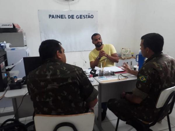 Secretario de Assistência Social de Miguel Leão se Reune com Representante do 2º BE
