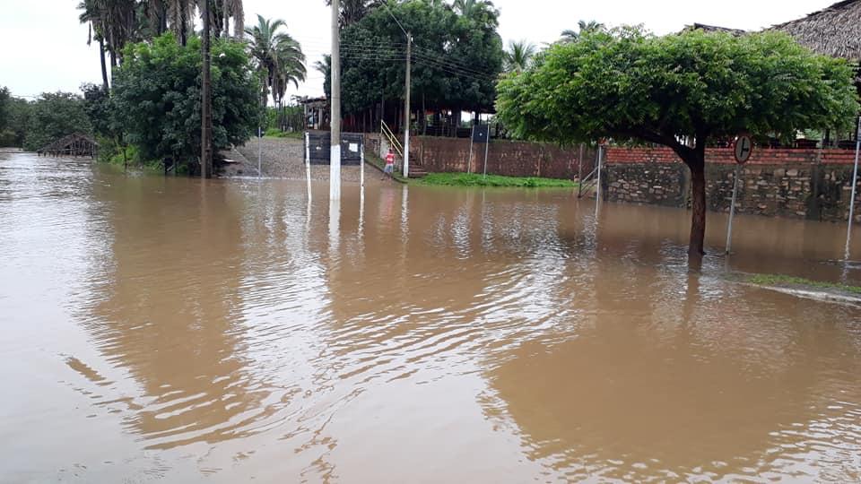 Nível do Rio São Nicolau deixa população de Santa Cruz dos Milagres em Alerta
