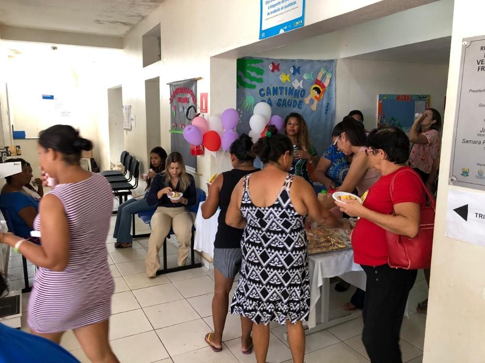 Secretaria de saúde oferece café simbólico em homenagem ao dia das mães em Miguel Leão