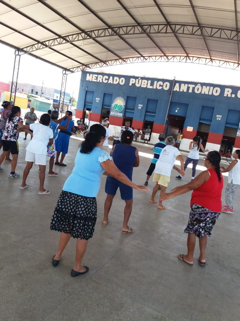SCFV de Agricolândia realizou Aula de Educação Física e Zumba para Idosos