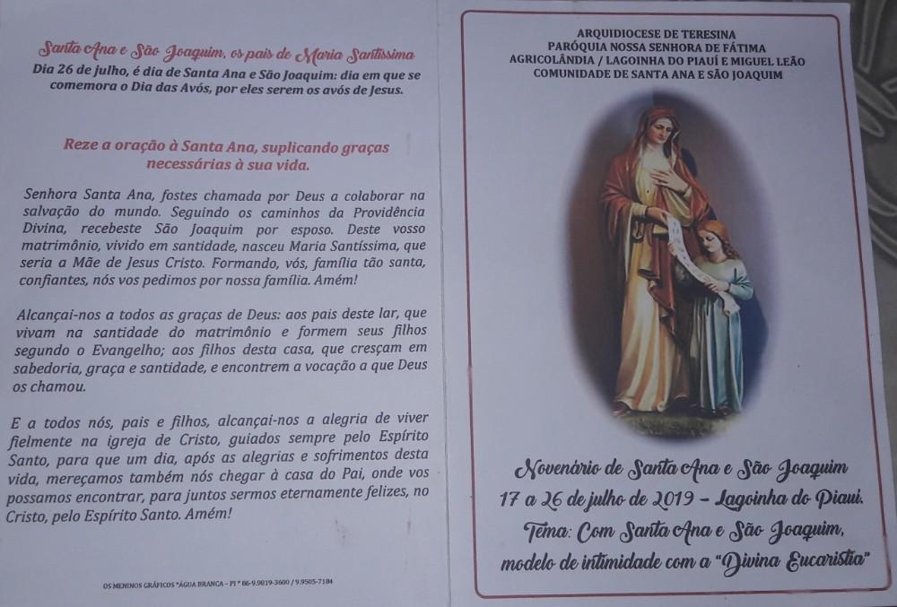 Nesta quarta feira 17 de julho começa o Festejo de Santa Ana em Lagoinha Piauí