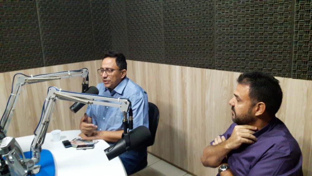 Prefeito Walter Alencar divulga 1ª Expo-Agri na FM Clube em Teresina