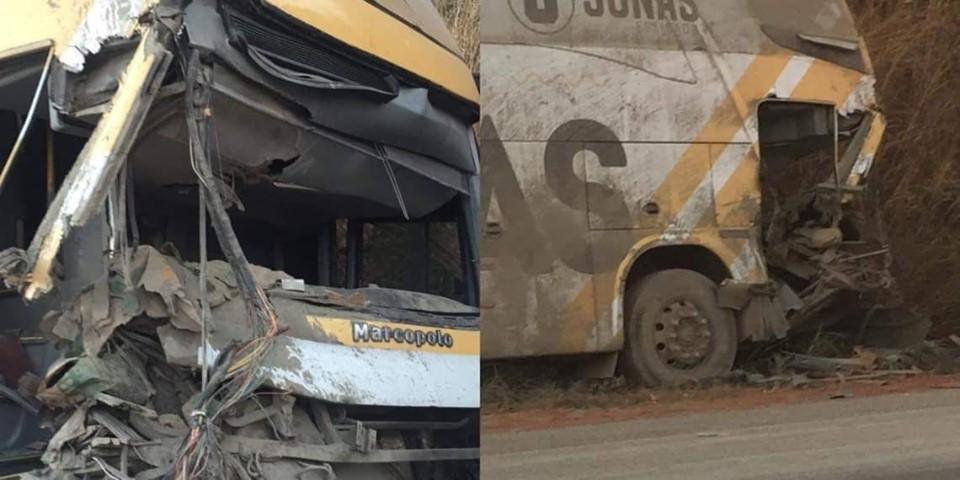 Ônibus da banda do cantor Jonas Esticado se envolve em acidente no Maranhão