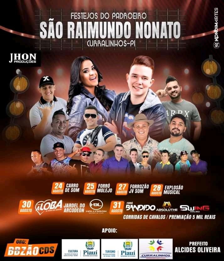 Dia 30 de agosto tem Banda A Loba em Curralinhos Piauí