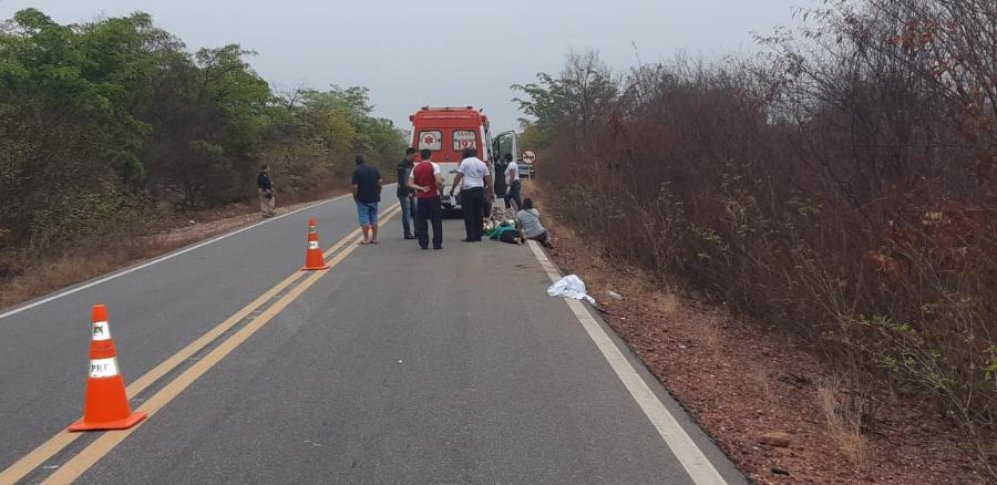 Acidente com ônibus de viagem deixa mortos e feridos na BR 135