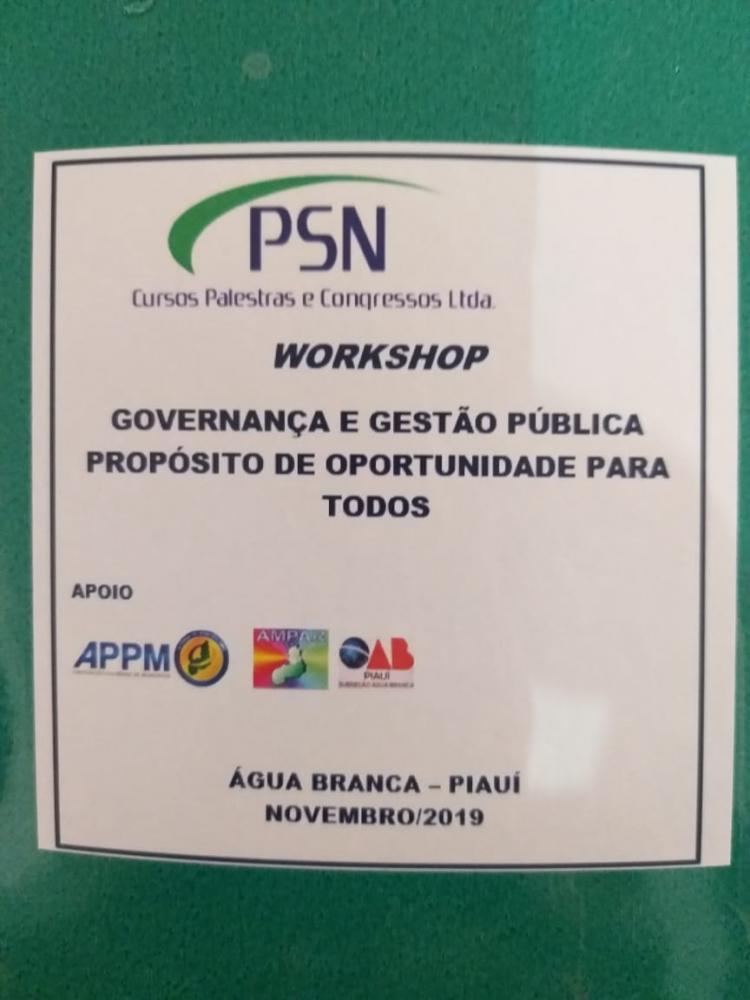 TCE-PI realizou Workshop Governança e Gestão Municipal para servidores Públicos do Médio Parnaíba