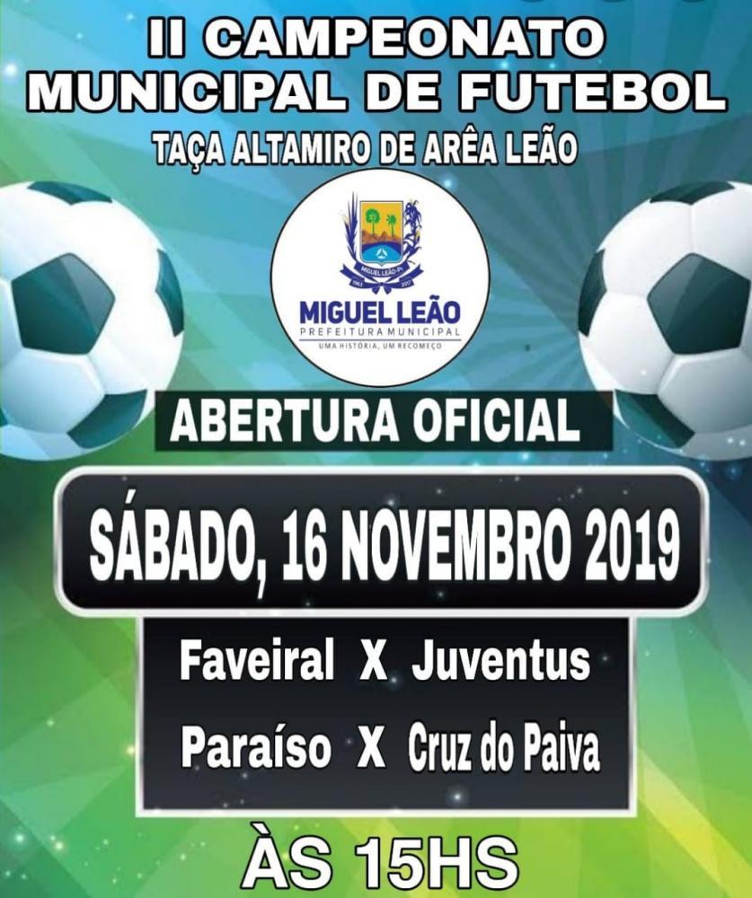 II Campeonato Municipal de Futebol de Miguel Leão Piauí