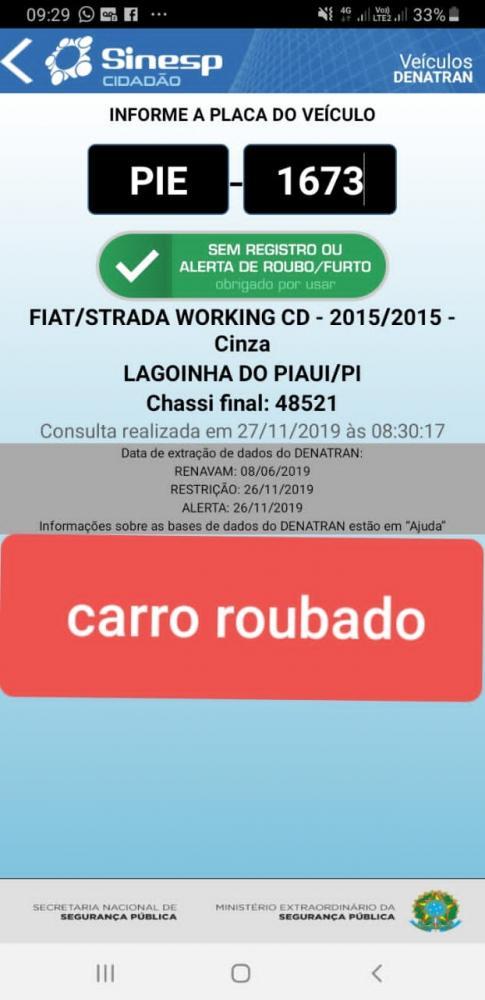 Dois homens Armados invadem residência e roubam um Carro em Lagoinha do Piauí