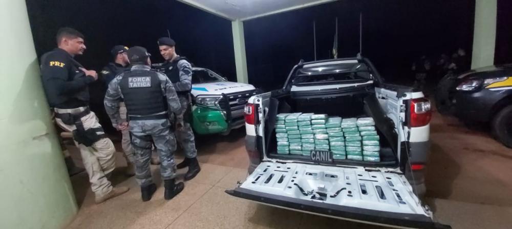 PRF apreende 65 quilos de cocaína, avaliados em R$ 5 milhões no Piauí