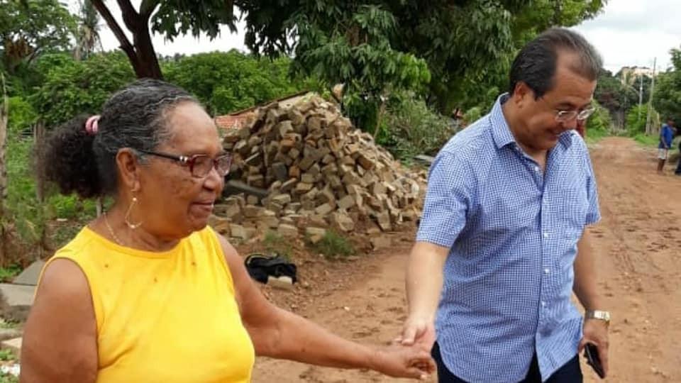 Prefeitura de Água Branca Inicia Obra de Calçamento na estrada Velha do Angicos