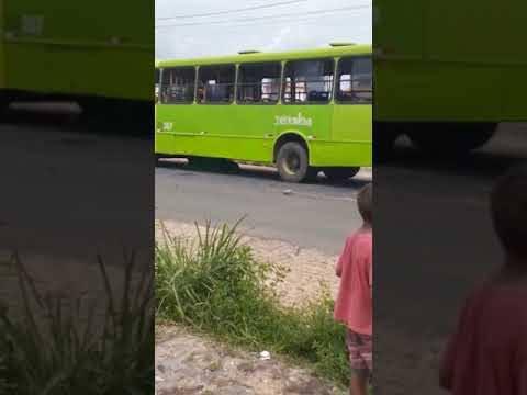 Ônibus é depredado após atropelar e matar idoso em Teresina